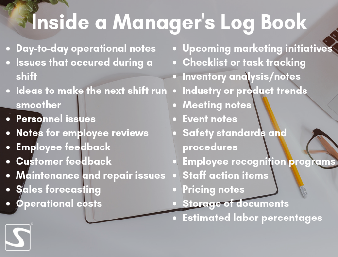 Online manager's log book
