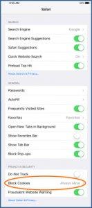 Enable Cookies Safari IOS 8